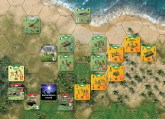 CoH Guadalcanal 1942 The Pacific Map Sample with Counters